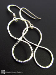 Set: Silver Infinity Necklace and Earrings