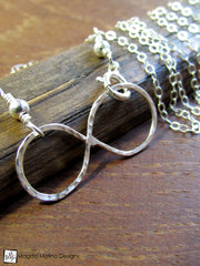 Set: Silver Infinity Necklace and Bracelet