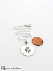 The Hand Stamped NAMASTE Silver Necklace