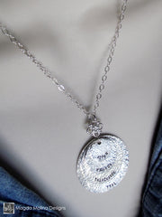 The Personalized Layered Hammered Silver Family (or Friends) Necklace