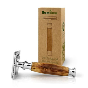Bambaw Double Edge Safety Razor with a Bamboo Handle - Tecorra