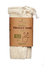 Load image into Gallery viewer, Organic Produce Bags & Bread Bag - 3 Pack - Tecorra