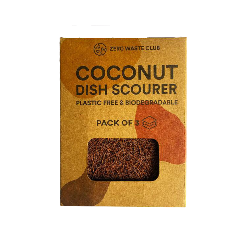 Coconut Kitchen Scourers (3) - Tecorra