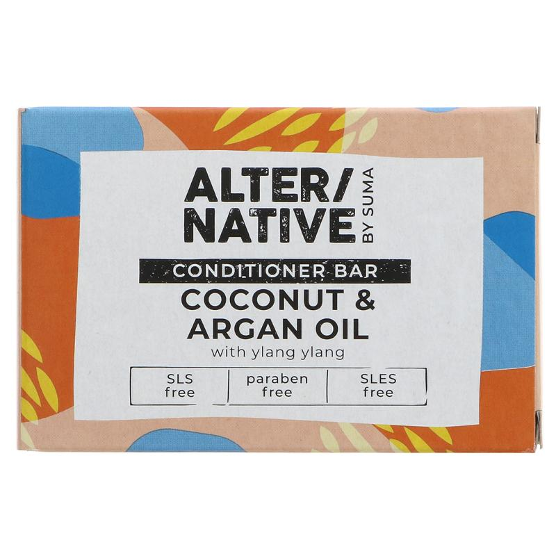 Alter/Native Coconut & Argan Oil Hair Conditioner Bar by Suma - Tecorra