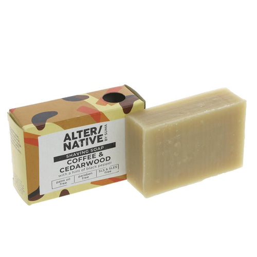 Alter/Native Coffee & Cedarwood Shaving Soap Bar - Tecorra