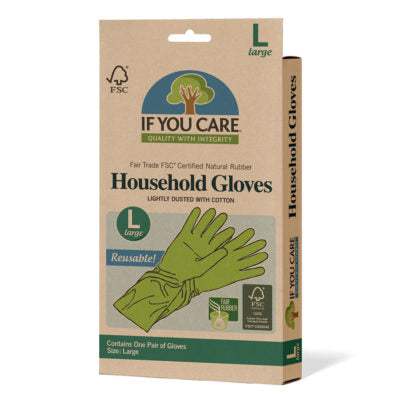 Household Rubber Gloves - Large - Tecorra