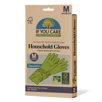 Household Rubber Gloves - Medium - Tecorra