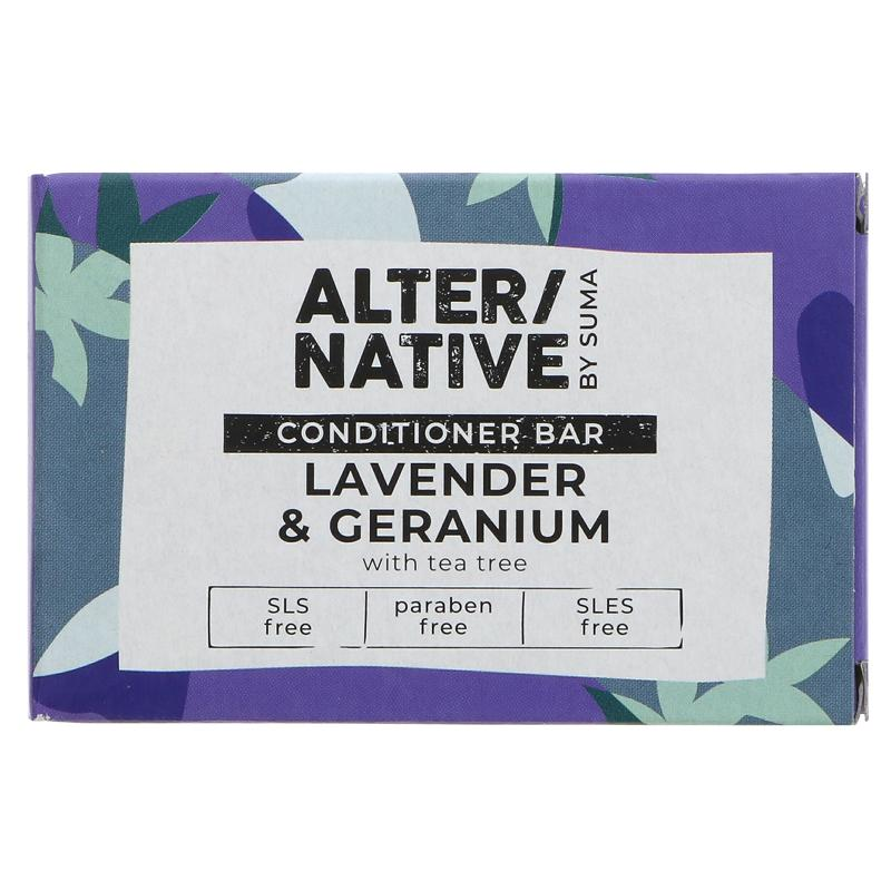 Lavender & Geranium Hair Conditioner Bar by Suma - Tecorra
