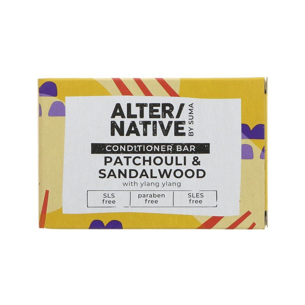 Alter/Native Patchouli & Sandalwood Hair Conditioner Bar by Suma - Tecorra