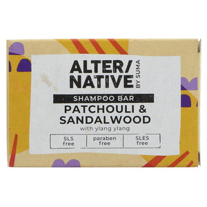 Alter/Native Patchouli & Sandalwood Shampoo Bar by Suma