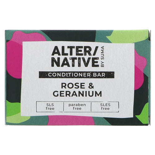Alter/Native Rose & Geranium Hair Conditioner Bar by Suma - Tecorra