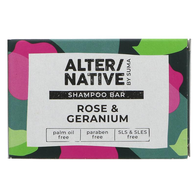 Alter/Native Rose & Geranium Shampoo Bar by Suma - Tecorra