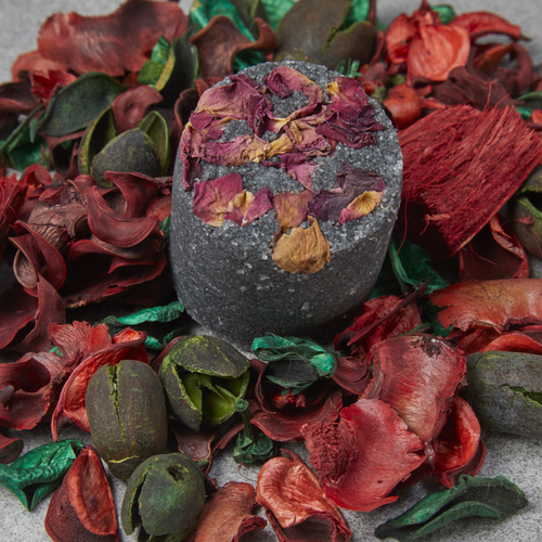 Charcoal & Rose Petal Body Scrub - Tecorra