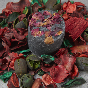 Charcoal & Rose Petal Body Scrub