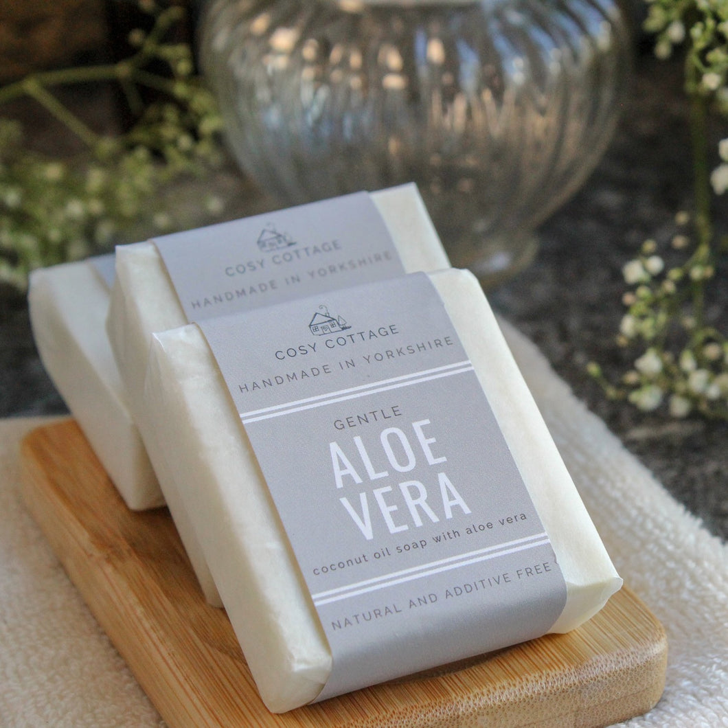 Cosy Cottage Handmade Natural Soap - Aloe Vera - Tecorra