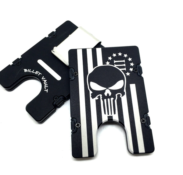 3 Percenter Flag with Skull EDC Wallet