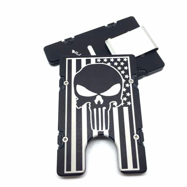 American Flag with Skull EDC Wallet