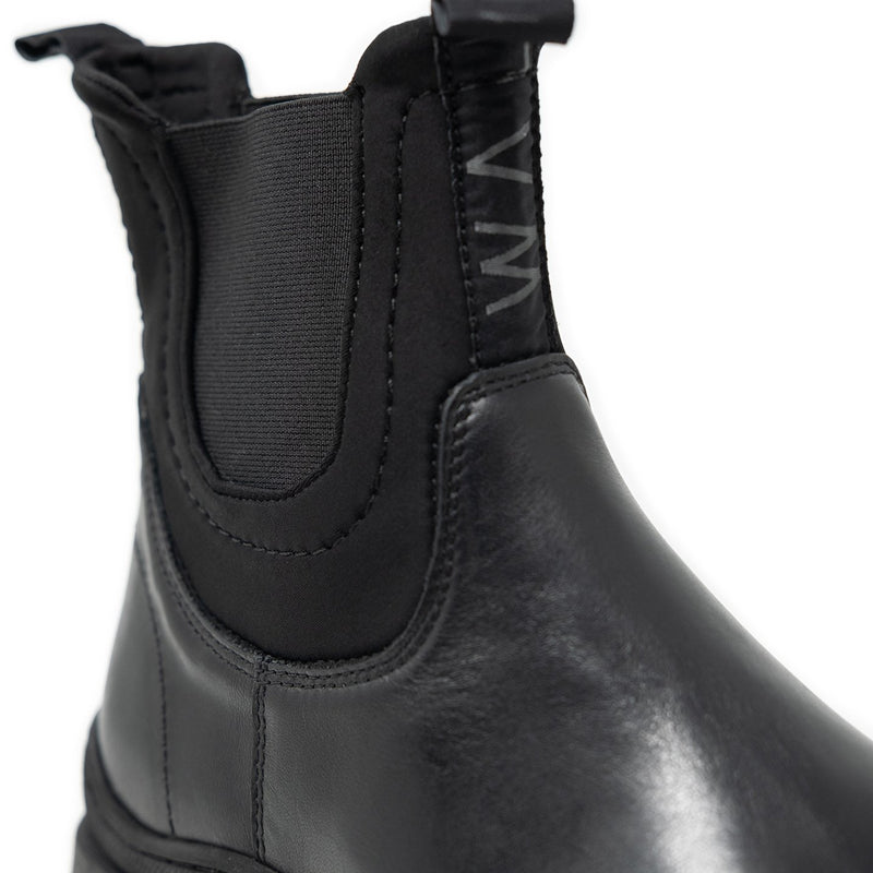 Black Chelsea Boots With Neoprene Ankle