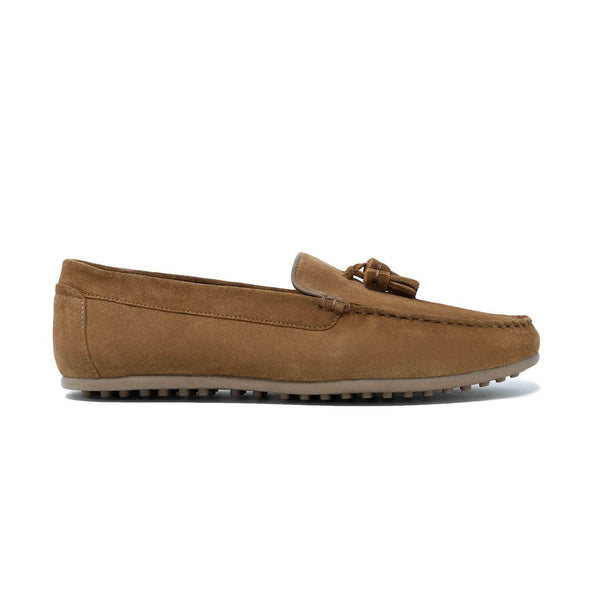 Mens Driving Shoes: Walk London Albert Driving Shoes in Tan Suede