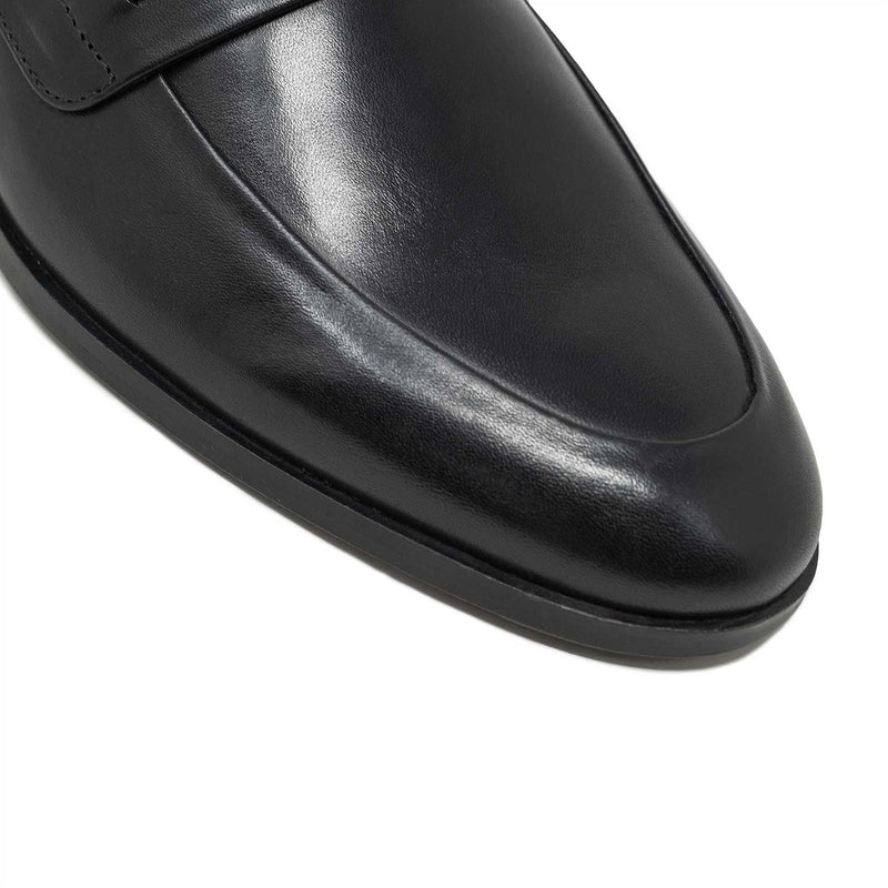 WALK London Brook Chain Loafer in black leather