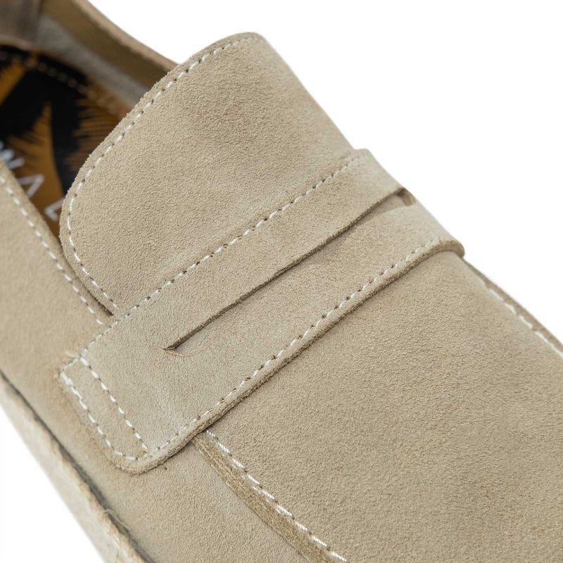 WALK London Cannes Saddle Espadrille Stone Suede