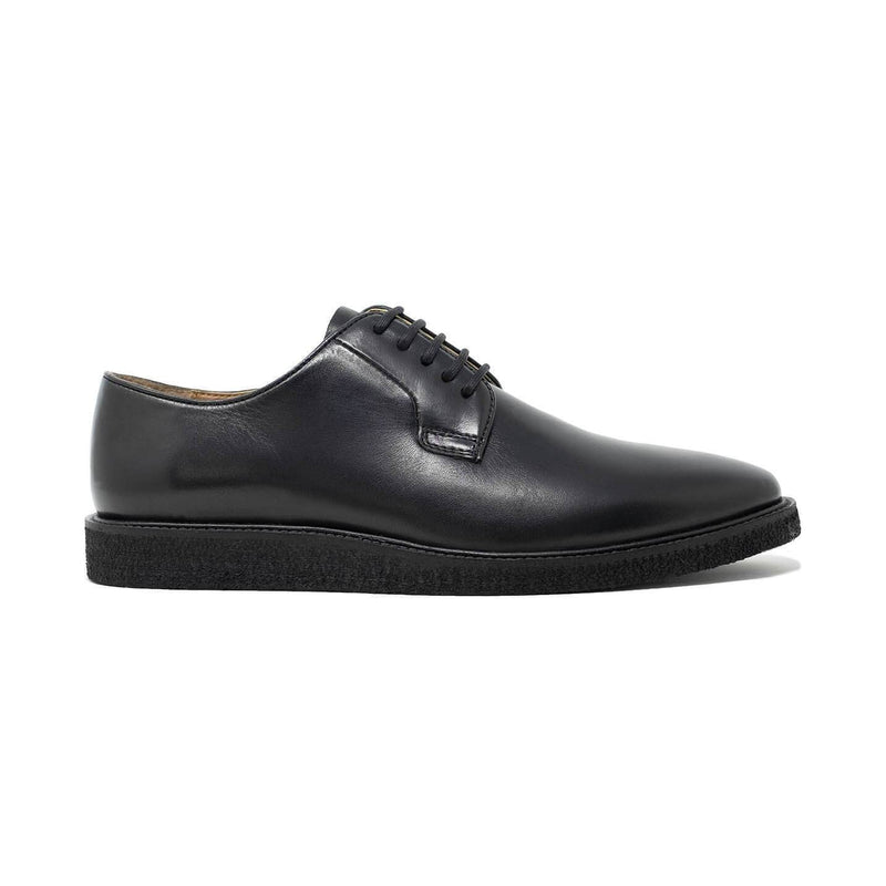 Walk London Del Derby Shoe in Black Leather