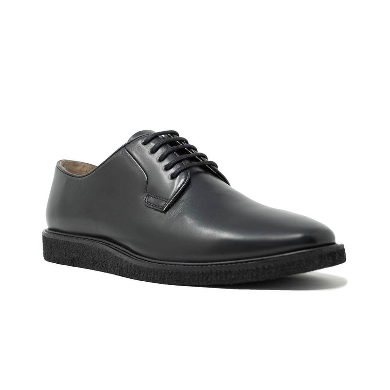 Black Leather Derby Shoe