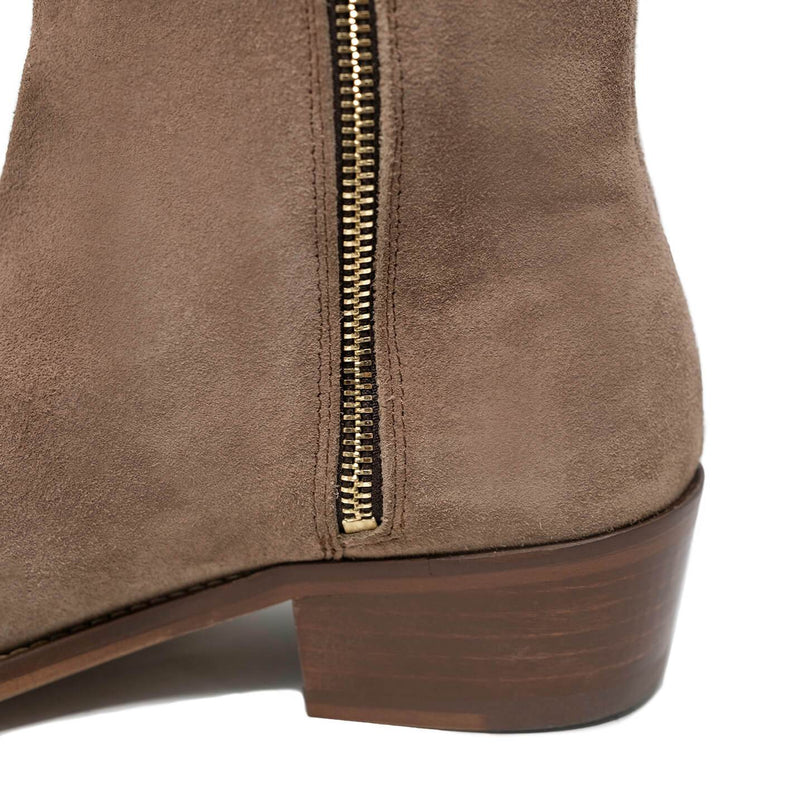 Hoxton Zip Up Cuban Heel Boot