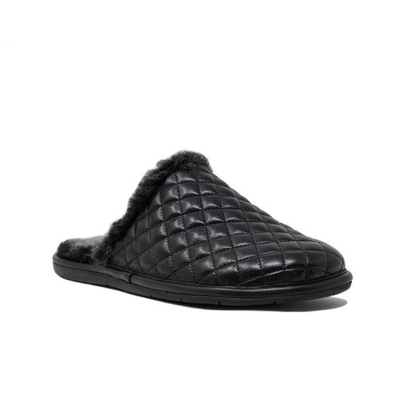Mens Quilted Mule Slipper