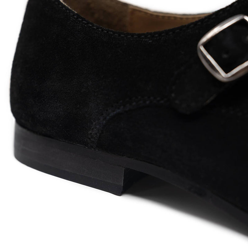 Luca Suede Monk Strap Shoes