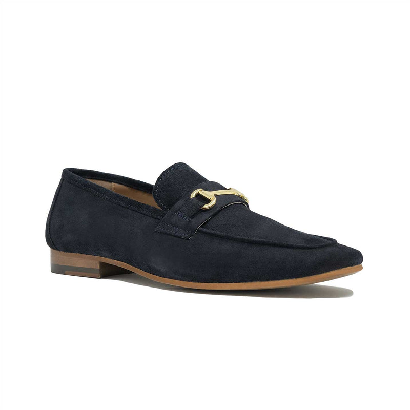 Navy Suede Trim Loafer