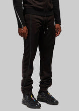 Load image into Gallery viewer, Black Embroidered Joggers