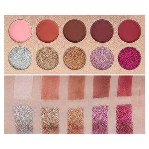 PALETA DE SOMBRA BEAUTY GLAZED 10 CORES