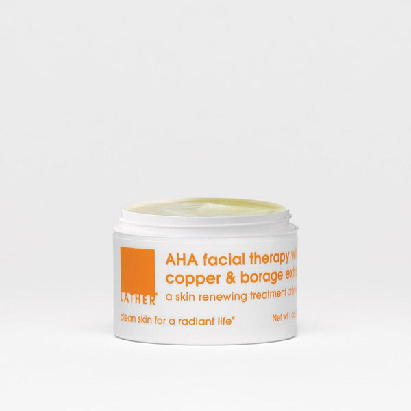 AHA Facial Therapy with Copper & Borage Extract lid open