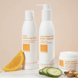 citrus toner with cucumber milk facial cleanser and sweet almond facial moisturizer