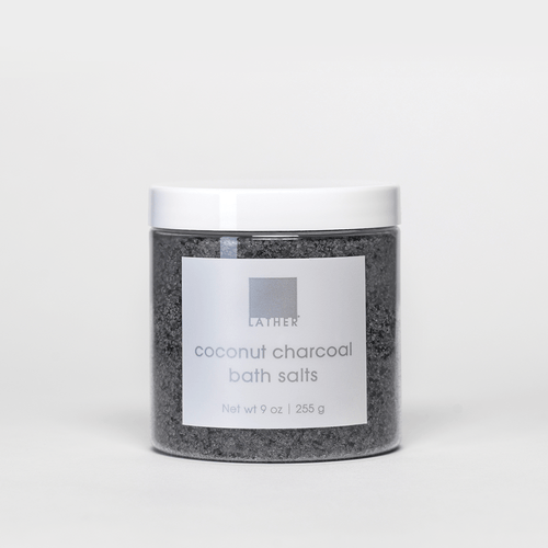 Jar of Coconut Charcoal Bath Salts