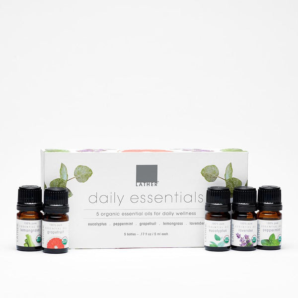 Daily essential oil set with 5 assorted essential oils