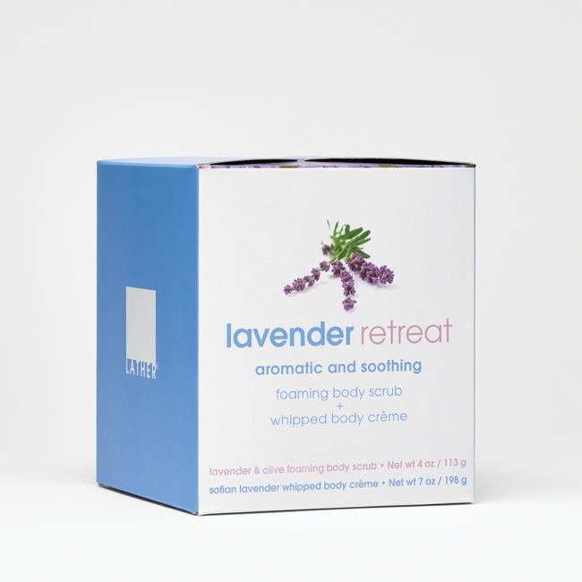 Lavender Retreat Foaming Body Scrub & Body Crème Box