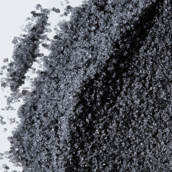 Zoomed in image of Coconut Charcoal Bath Salts to emphasize texture