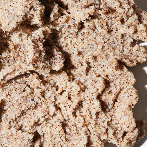 Zoomed in image of the Coconut Foaming Body Scrub to emphasize texture