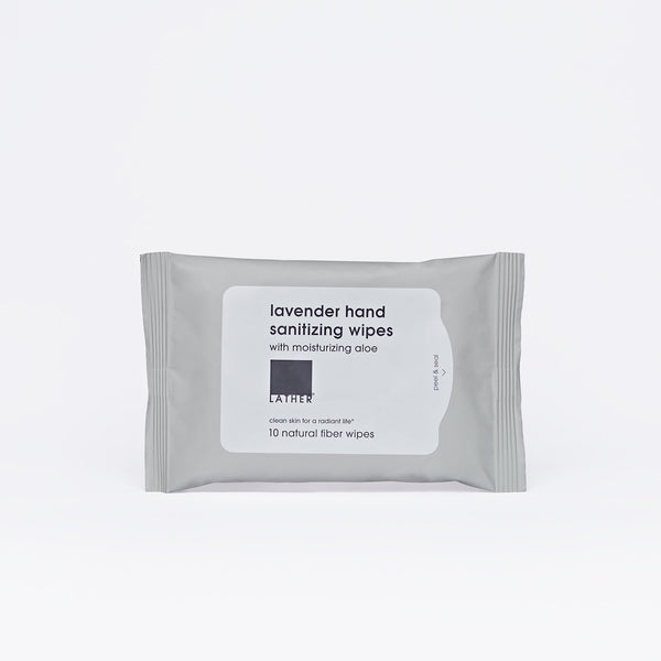 Package of 10-pack Hand Sanitizer Wipes