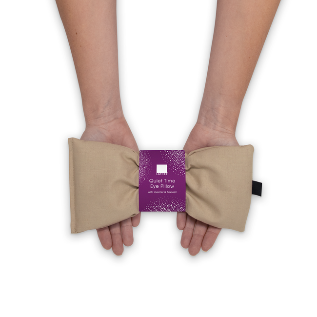 woman holding Quiet Time Eye Pillow in hands