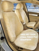 FULL SHEEPSKIN CAR SEAT COVERS ( Lambswool ) 27mm All Over Sheep Skin Charcoal