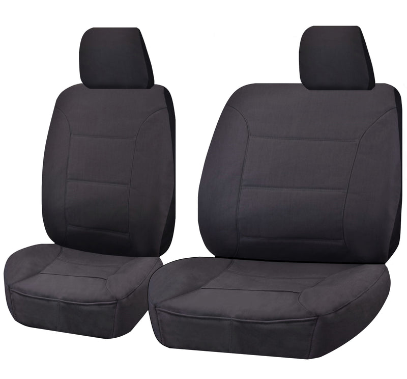 Challenger Car Seat Covers For Toyota Landcruiser Vdj 70 Series Single/Dual Cab Chassis 2008-2020 | Charcoal