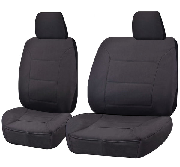 Tailor Made Challenger II Seat Covers for TOYOTA LANDCRUISER 60.70.80 SERIES 1981-2010 SINGLE CAB/TROOPCARRIER CHARCOAL
