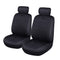 Universal Car Seat Covers Set Neoprene WATERPROOF Full Seat Airbag Black-Grey Stitching
