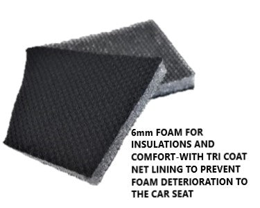 Universal El Toro Series II Rear Seat Covers Size 06/08S - Black/Grey