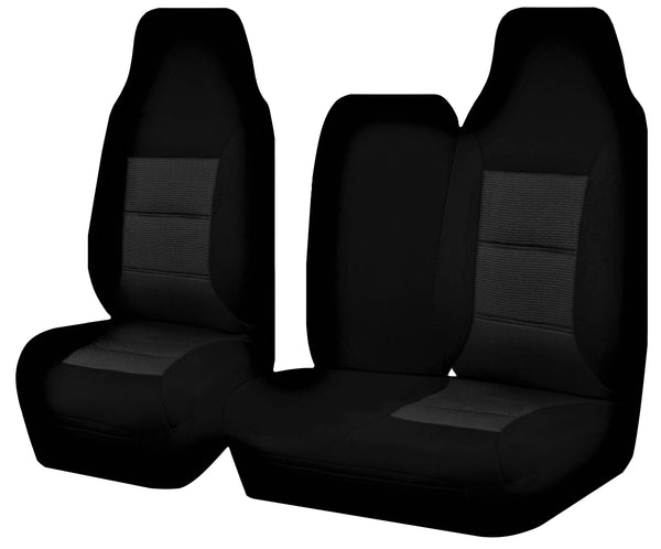 Tailor Made Premium Seat Covers for TOYOTA HIACE TRH-KDH SERIES 03/2005–2015 SINGLE/CREW CAB LWB UTILITY VAN BLACK