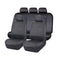 Universal Black Opal Front and Rear Seat Covers Value Pack - Black