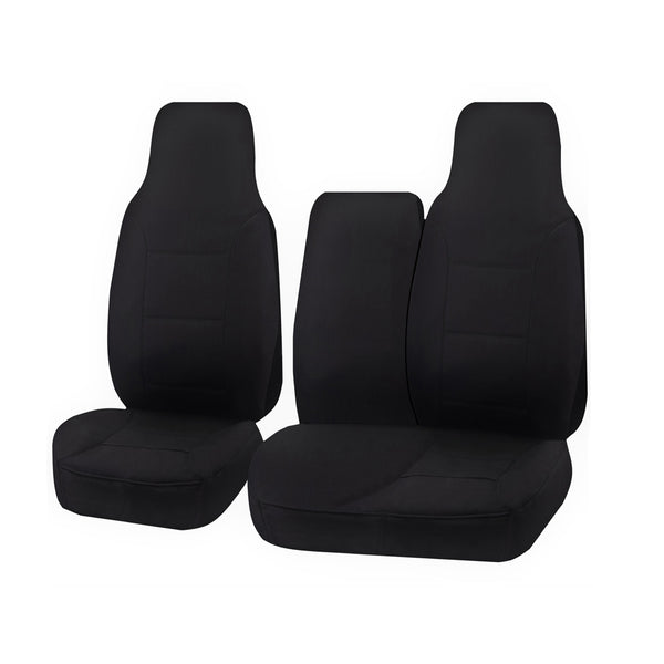 Tailor Made Challenger II Seat Covers for TOYOTA HIACE TRH-KDH SERIES 03/2005–2015 SINGLE/CREW CAB LWB UTILITY VAN BLACK
